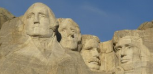 These four American Presidents ARE chiselled in stone!
