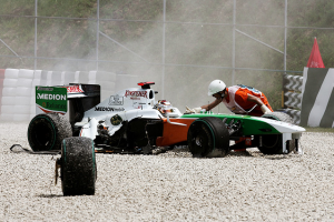 Accidents rarely happen in Formel 1 racing...